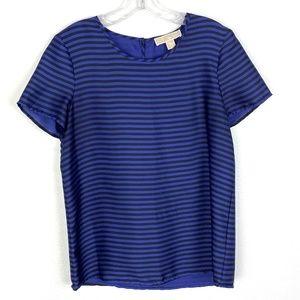 Michael Kors striped blouse top short sleeve